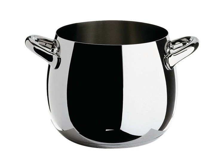 Stainless steel pot with two handles MAMI | Pot - ALESSI