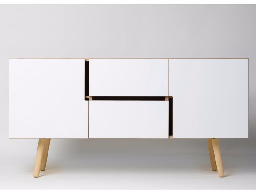 Multi-layer wood sideboard with doors MAN | Multi-layer wood sideboard - Radis