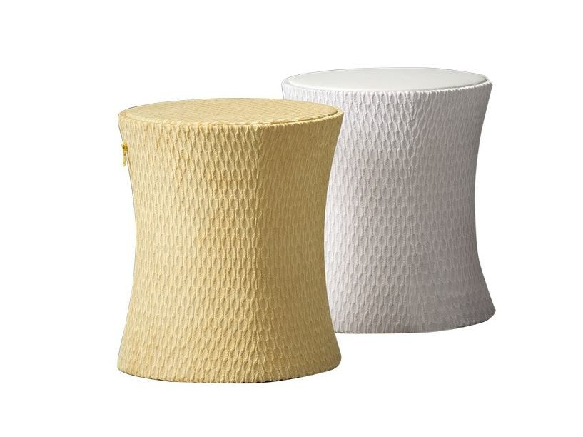Round fabric bedside table MANGO by Chaarme