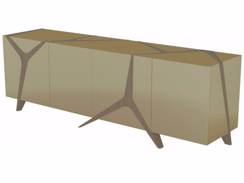 Lacquered resin sideboard with doors MANGROVE - ROCHE BOBOIS