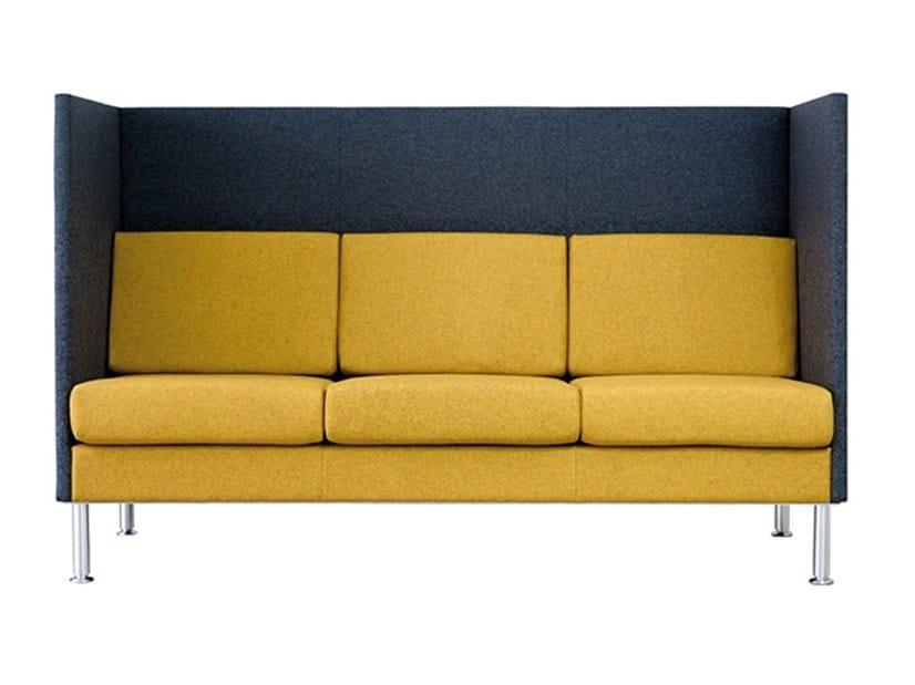 High-back fabric sofa MANHATTAN HALFBACK   Sofa - SMV Sitz- und Objektmöbel