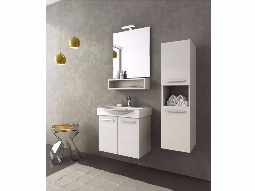 Single vanity unit with doors MANHATTAN M1 - LEGNOBAGNO