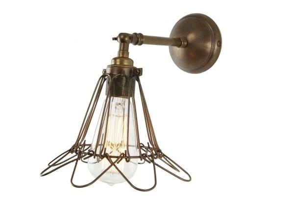 Direct light handmade wall lamp MANN INDUSTRIAL CAGE WALL LIGHT by Mullan Lighting