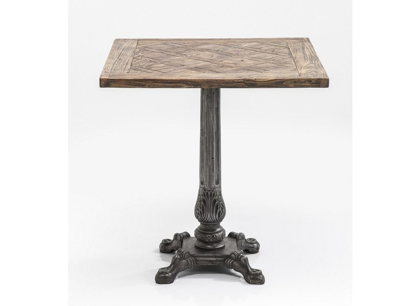 Square steel and wood table MANOR HOUSE | Table - KARE-DESIGN