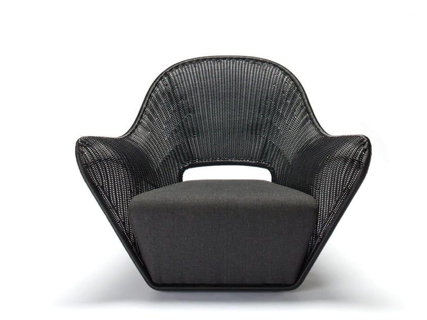Polyethylene garden armchair with armrests MANTA OUTDOOR - Feelgood Designs