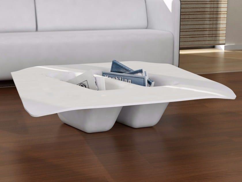 Tavolino basso in Adamantx® con vano contenitore MANTA - ZAD ITALY