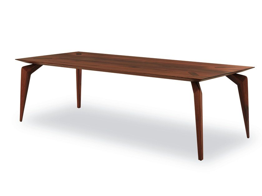Rectangular wooden dining table MANTIS by Riva 1920
