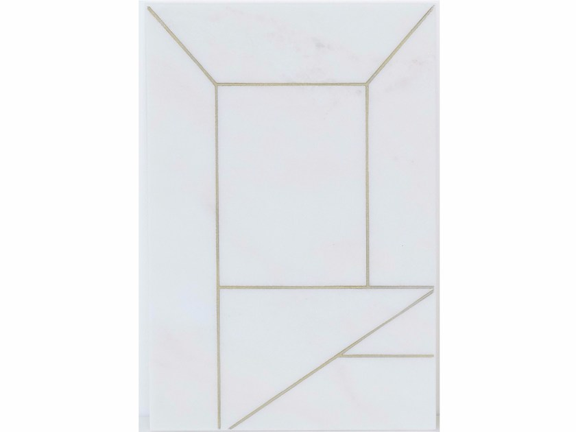 Rectangular marble tray MARBLE PERSPECTIVE - Kristina Dam Studio