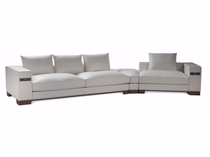 Corner sectional leather sofa MARCO - Canapés Duvivier