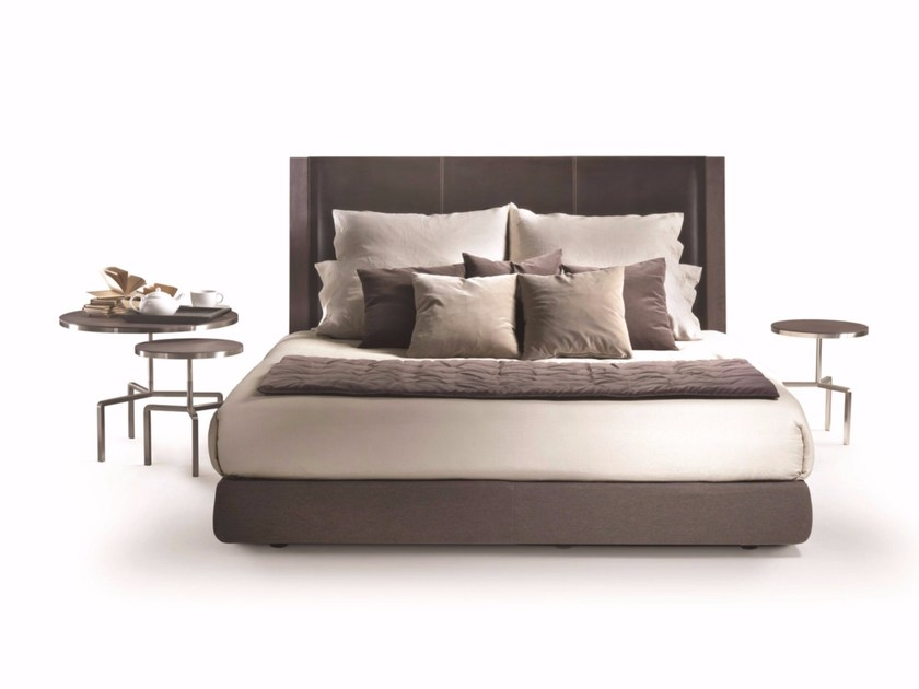 Leather double bed MARGARET | Bed - FLEXFORM