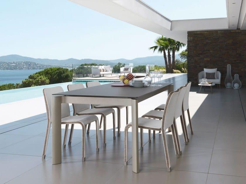 Extending rectangular aluminium garden table MARGOT | Garden table - ITALY DREAM DESIGN - Kallisté