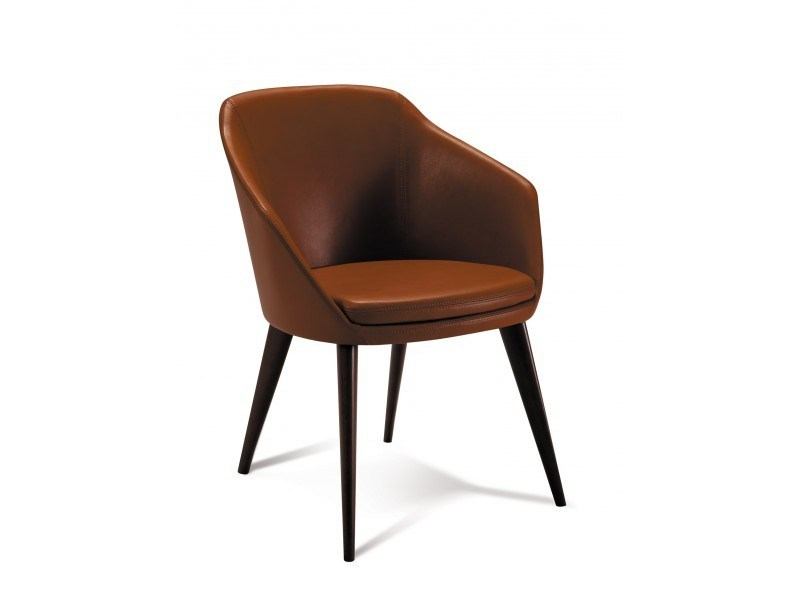 Leather easy chair with armrests maria by canap s duvivier for Duvivier canape