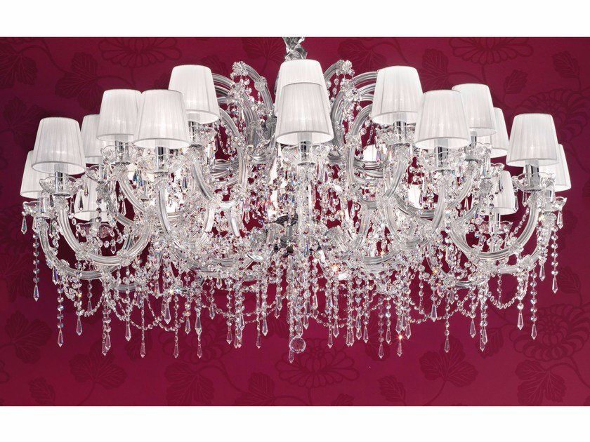 Direct light painted metal chandelier with crystals MARIA TERESA VE 980 by Masiero