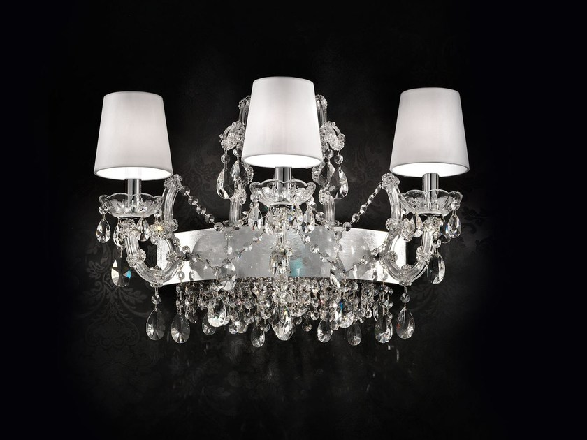 Direct light incandescent chrome plated wall light with crystals MARIA TERESA VE 921 | Wall light by Masiero