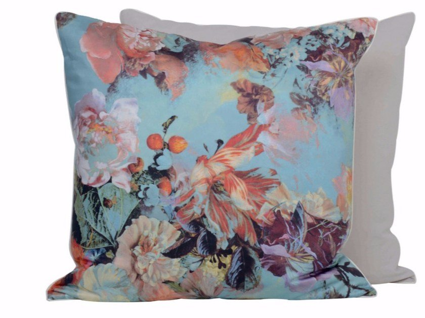 Square cotton cushion MARIEE - LELIEVRE