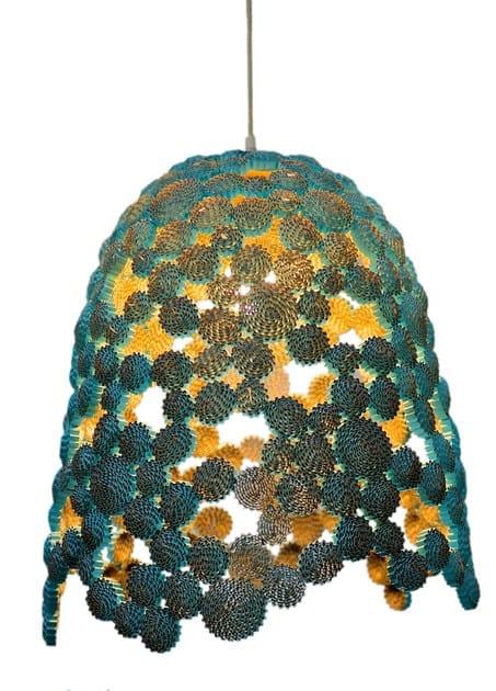 Handmade cardboard pendant lamp MARINA BELL - ICI ET LÀ