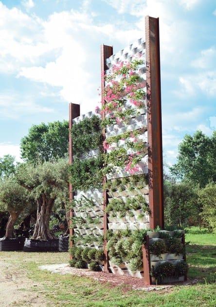 Giardino verticale per esterno marinelli system fils - Moduli per giardino verticale ...