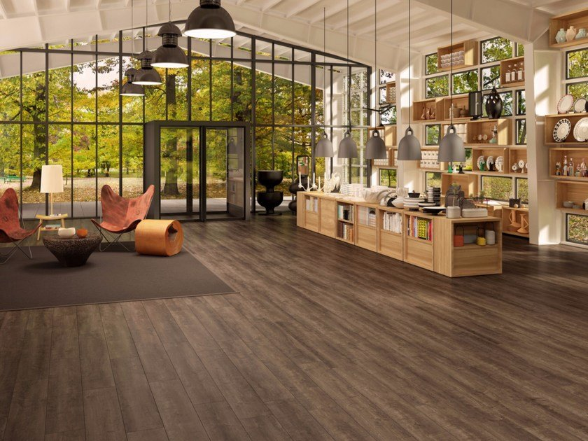 Ecological flooring with wood effect MARK by Vorwerk Teppichwerke
