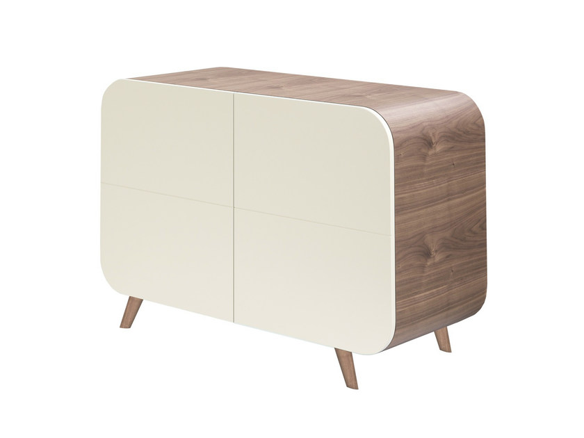 Lacquered sideboard with doors MARLY PETITS PIEDS DE BOIS - AZEA