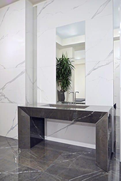 Pavimento rivestimento in gres porcellanato effetto marmo - Rivestimento bagno gres porcellanato ...