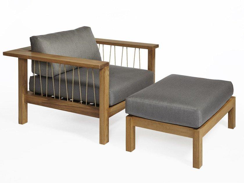 Teak garden armchair with armrests MARO | Armchair - OASIQ