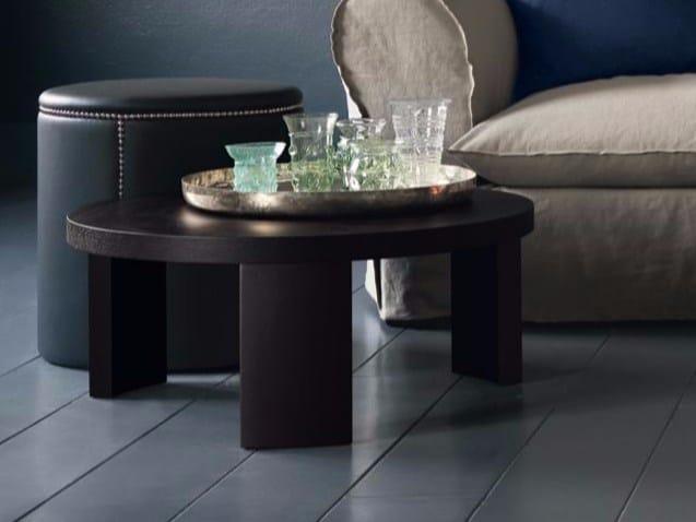 Round oak coffee table MAROCCHINO - Casamilano