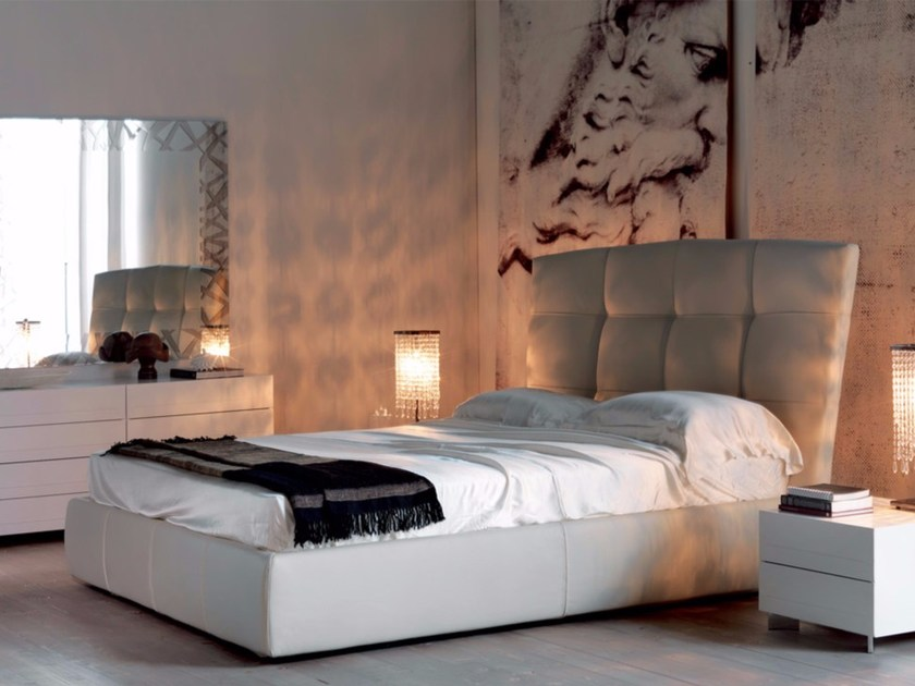 Upholstered double bed MARSHALL - Cattelan Italia