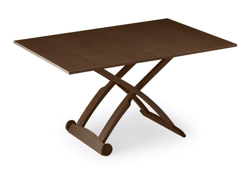 Height-adjustable table with casters MASCOTTE - Calligaris