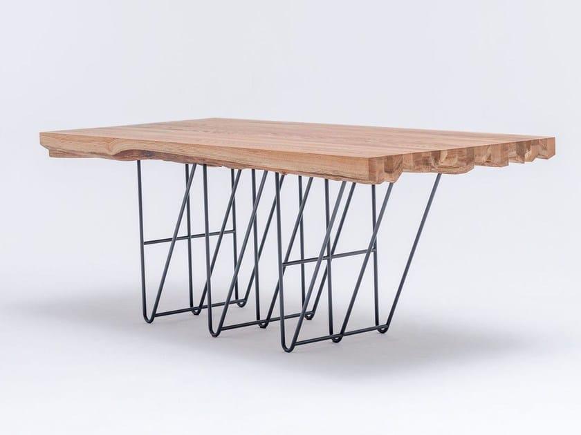 Tavolo da pranzo rettangolare in legno massello MASIV OAK - ST FURNITURE