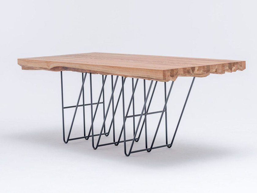Rectangular solid wood dining table MASIV OAK - ST FURNITURE