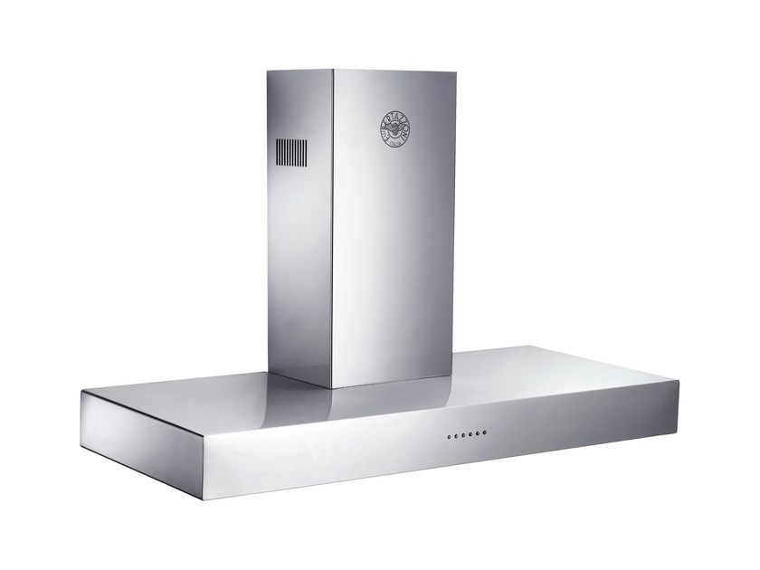 Wall-mounted cooker hood with integrated lighting MASTER - K120 CON X A - Bertazzoni
