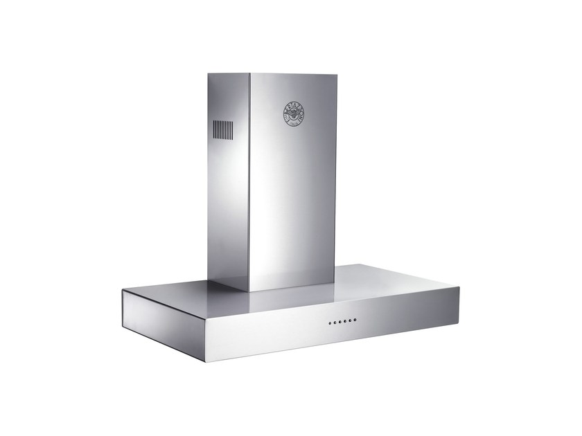 Wall-mounted cooker hood with integrated lighting MASTER - K90 CON X A - Bertazzoni
