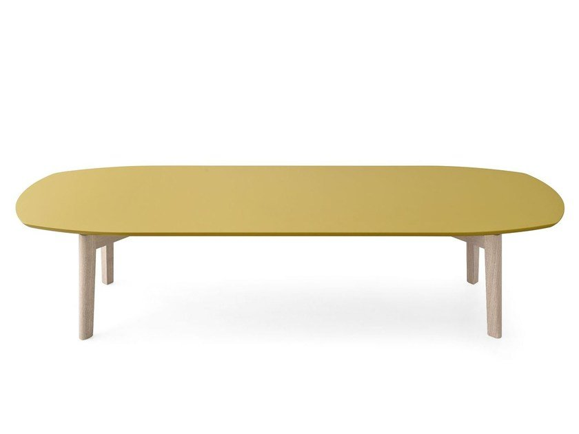 Rectangular ash coffee table MATCH | Wooden coffee table by Calligaris