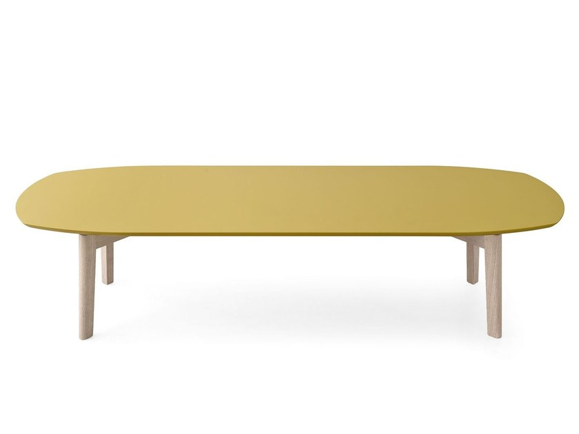Rectangular ash coffee table MATCH | Wooden coffee table - Calligaris