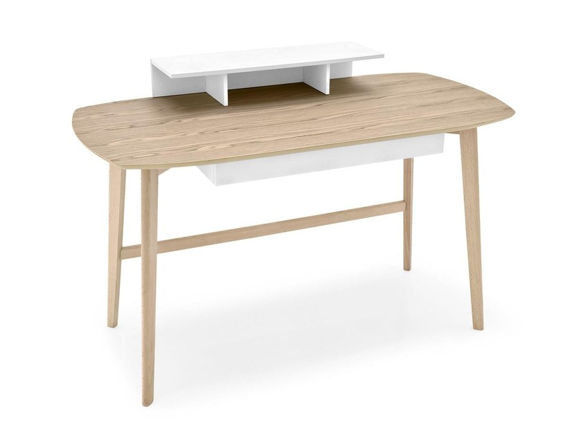 Writing desk with drawers MATCH | Writing desk - Calligaris