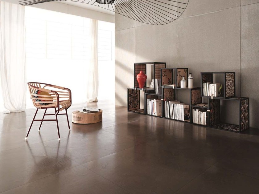 Laminated stoneware wall/floor tiles with concrete effect MATERICA - COTTO D'ESTE