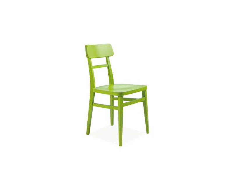 Lacquered wooden chair MATRIX - CREO Kitchens by Lube