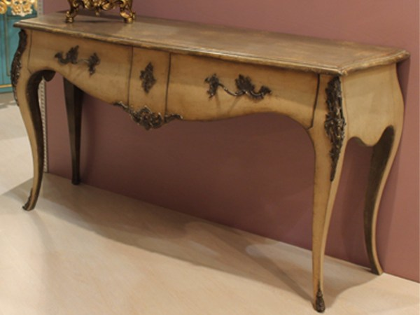 Solid wood console table with drawers MATTEO - Arvestyle