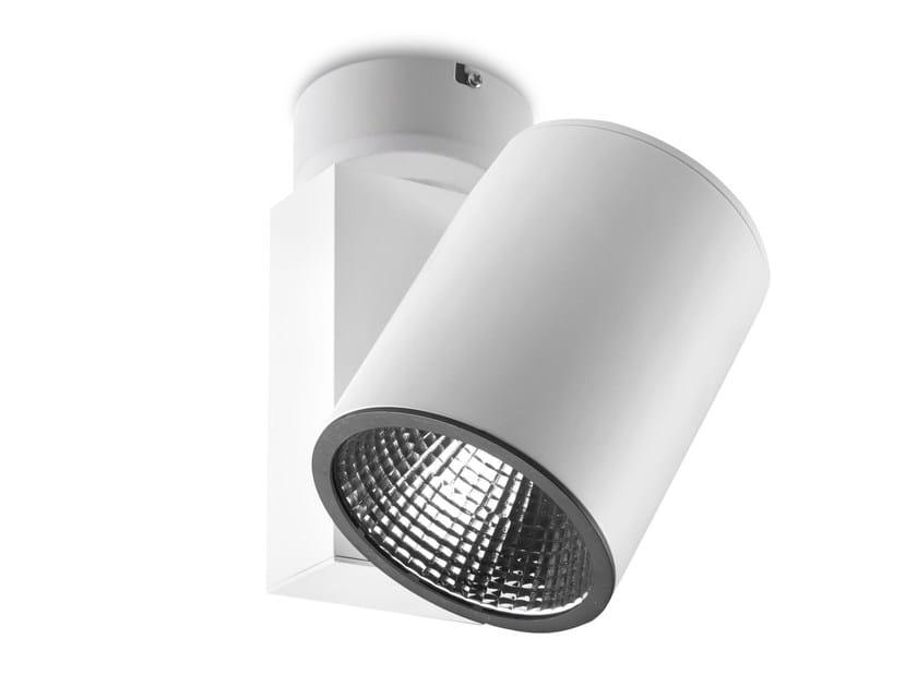 LED Ceiling adjustable aluminium light projector MAXI BASE - LED BCN Lighting Solutions