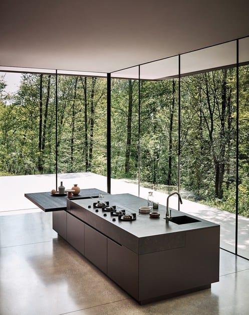 cucina componibile con isola in rovere termocotto maxima 2 2 composizione 1 by cesar arredamenti. Black Bedroom Furniture Sets. Home Design Ideas