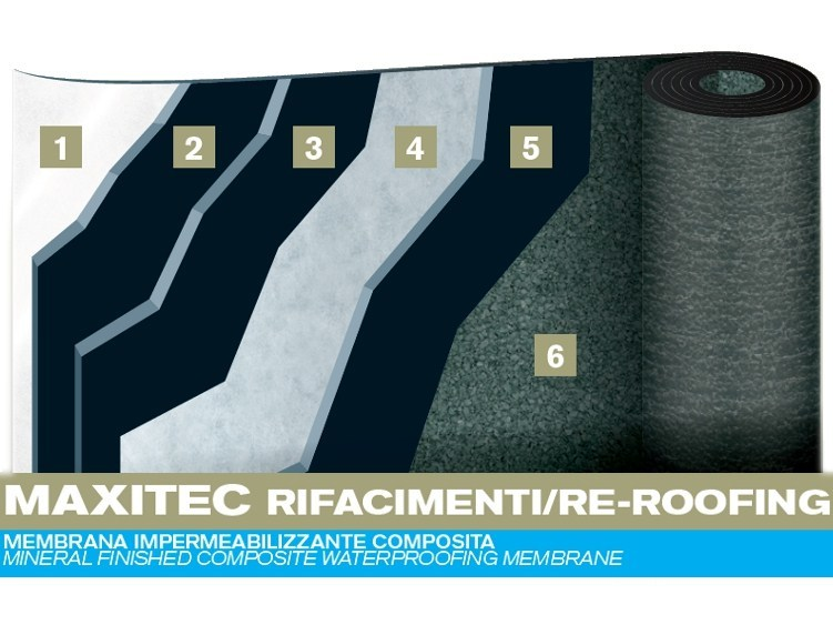 Prefabricated bituminous membrane MAXITEC RE-ROOFING - PLUVITEC