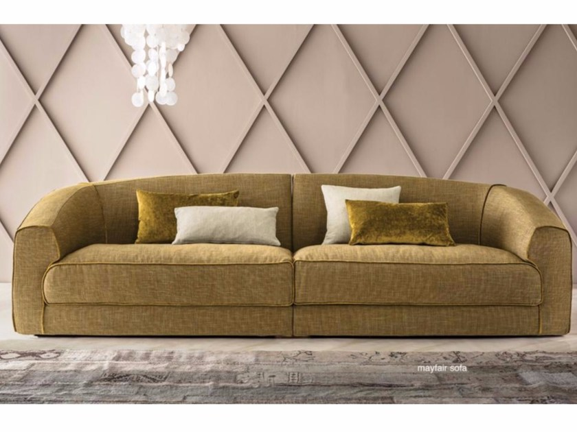 Fabric sofa with removable cover MAYFAIR - Casamilano