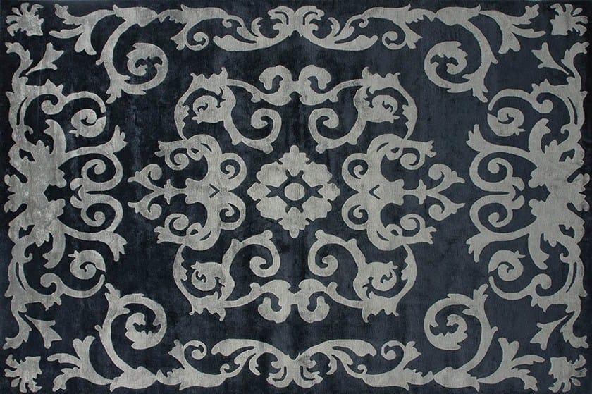 Handmade rectangular custom rug MAZARIN GRAPHITE by EDITION BOUGAINVILLE