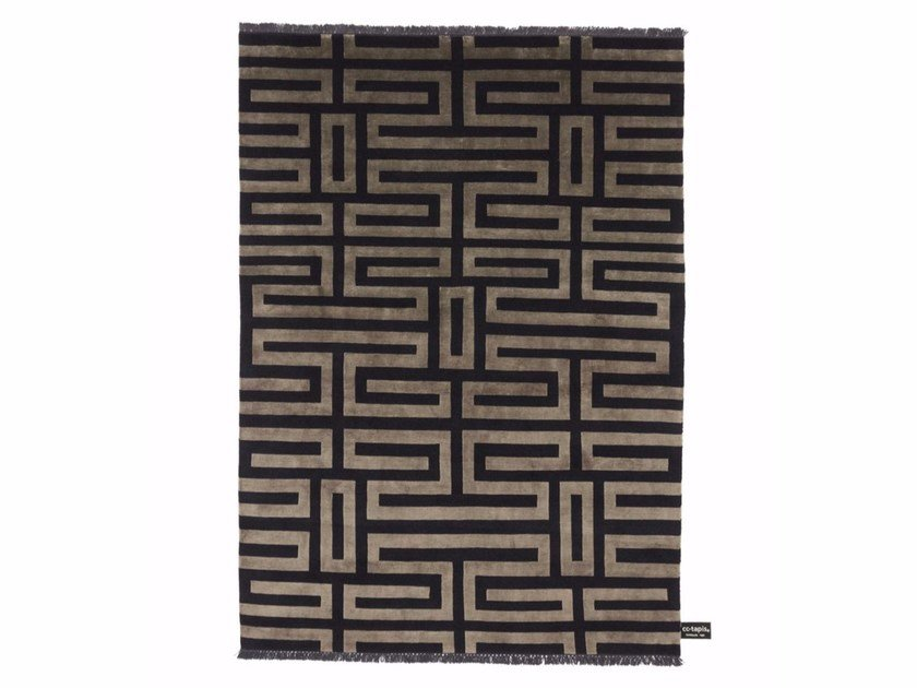 Rectangular rug with geometric shapes MAZE SOIE - cc-tapis ®