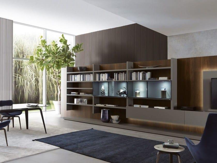 Modular storage wall with integrated lighting ME SYSTEM | Storage wall with integrated lighting - MisuraEmme