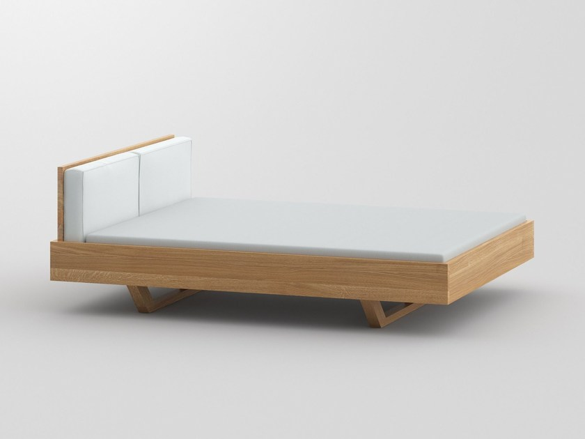 Solid wood double bed MEA - vitamin design