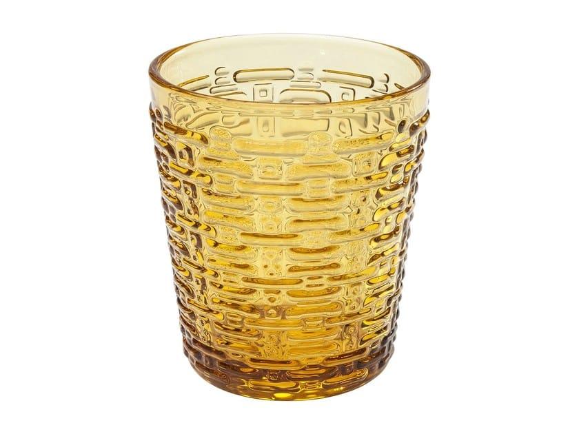 Bicchiere in vetro colorato MEANDER AMBER | Bicchiere - KARE-DESIGN