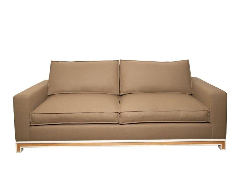 2 seater fabric sofa MECO   2 seater sofa - Branco sobre Branco