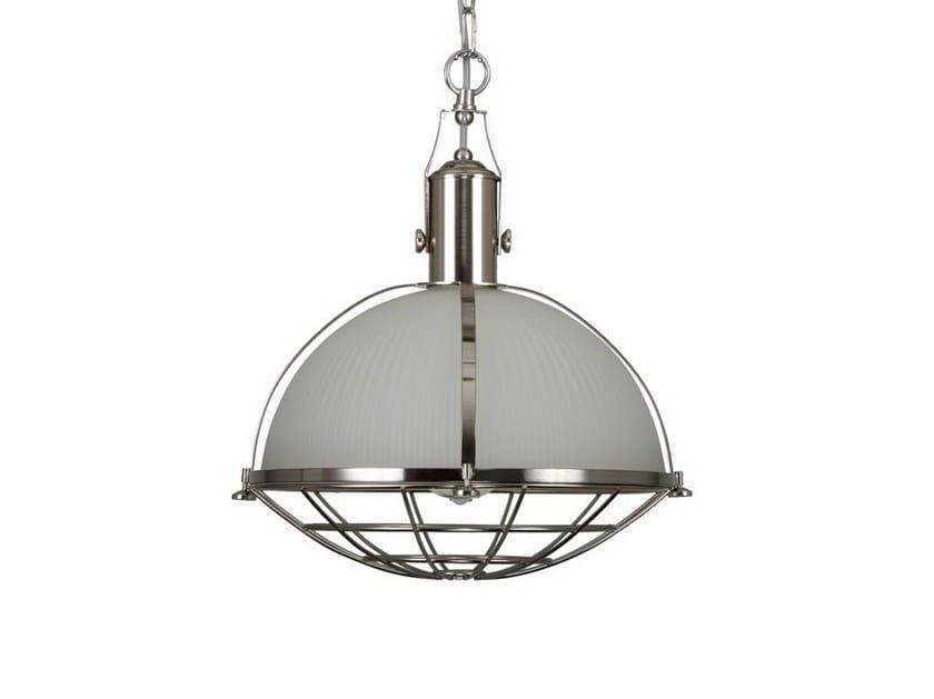 Direct light handmade pendant lamp MEDDLE INDUSTRIAL PENDANT SATIN SILVER - Mullan Lighting