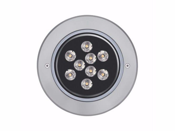 LED steel Floor Light MEDIO FULL INOX - Platek